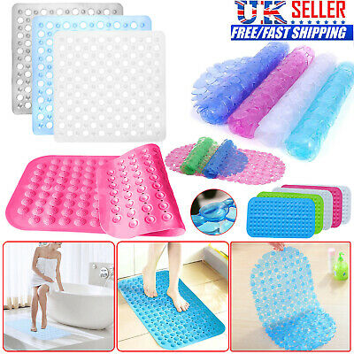 Large Strong Suction Anti Non Slip Bath Shower Mat PVC Foot Massage Bathroom Rug