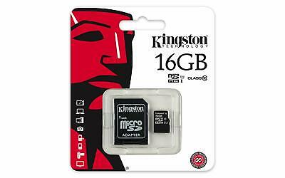 Kingston SDCS 16GB MicroSD Class10 SD Speicherkarte HD inkl. Adapter in Schwarz