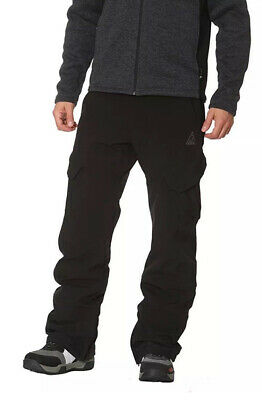 Gerry Men's Fleece Lined Snowboard Ski Snow Pants 4 Way Stretch, Black