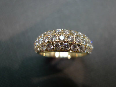 2 ct half eternity wedding band anniversary ring gift solid 14K Gold Over jewel