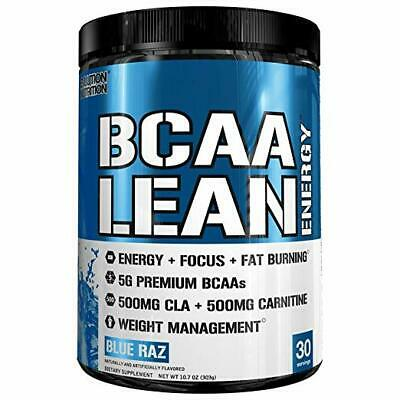 NEW EVLution Nutrition BCAA Lean Energy Blue Raz 10.7 oz Made in USA