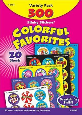 300 Colourful favourites Scratch and Sniff Stinky Reward Stickers Variety pack