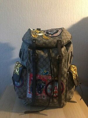 f8888a5d7464 Gucci Beige GG Supreme Disney Donald Duck Backpack