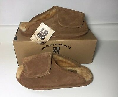 98d2071da Indoor Outdoor Slippers Lamo Men s Open Toed Wrap Chestnut Shoes Large NEW