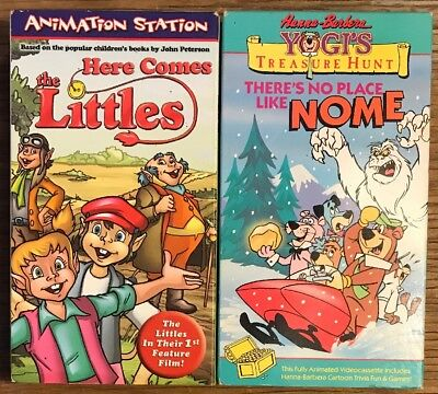 Lot Of 2 Children's VHS Tapes Yogi Treasure Hunt/ Here Comes The Littles Cartoon