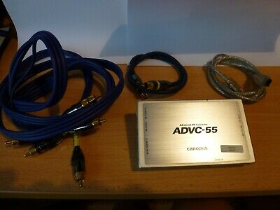 Canopus Analogue to DV converter ADVC-55 for use with Microsoft and Mac's.