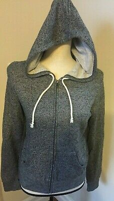 169755a777 Women s Juniors Forever 21 Hoodie Gray Zip up 2 Pocket Size Medium - EUC