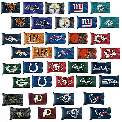 NEW Licensed Football League Team Logo Pillow Case Covers  - Pick Your Team