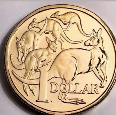 RARE 2017 Australian $1 (one dollar) Mob Of Roos MOR Coin EX-Security Bag UNC