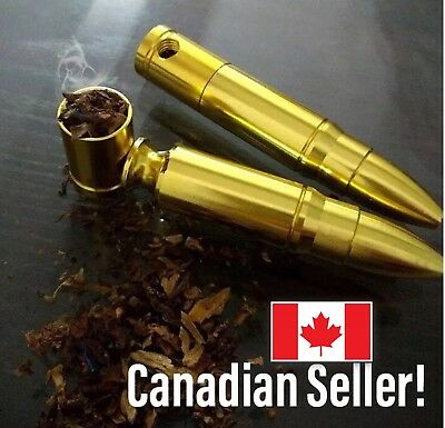 Smoking Pipe Tobacco Bullet Shape Cool Bullet Shape Pipe 🇨🇦 seller!