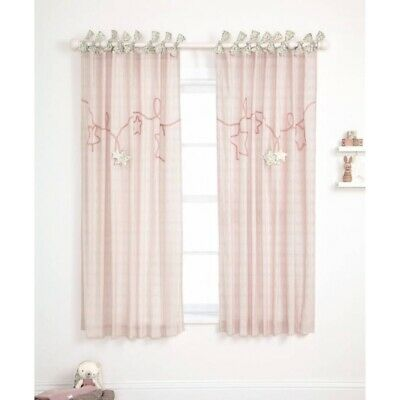 SALE BNWT MAMAS AND PAPAS MILLIE AND BORIS GIRLS LINED CURTAINS SIZE 132 x 160