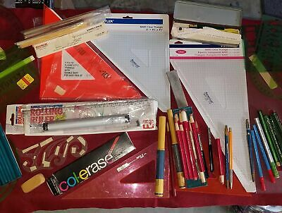 Lot of VINTAGE Drafting / Drawing Supplies