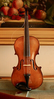 A Good Antique c19th 4/4 Violin, Pale Maple, Guarnerius Form