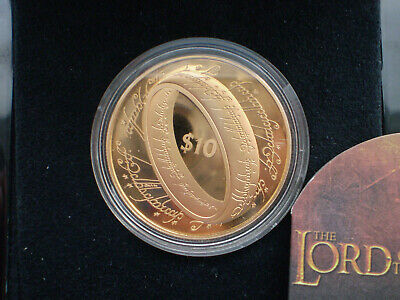 New Zealand -2003 - Gold $10 Proof Coin- The Lord of the Rings Gold Proof Coin