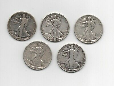 1920 1934 S 1936 S 1941 D 1942 S Walking Liberty Half Dollars Free Shipping