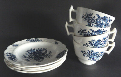 Booths Peony Blue 4 Oversized Cup & Saucer Set  A8021