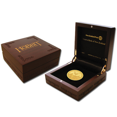 New Zealand -2013 - Gold $10 Proof Coin-1 OZ The Hobbit: The Desolation of Smaug