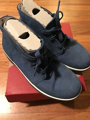 13323fc25  145 FitFlop Womens Loaff Lace Up Ankle Nubuck Boot Shoes Devon Blue Sz 6