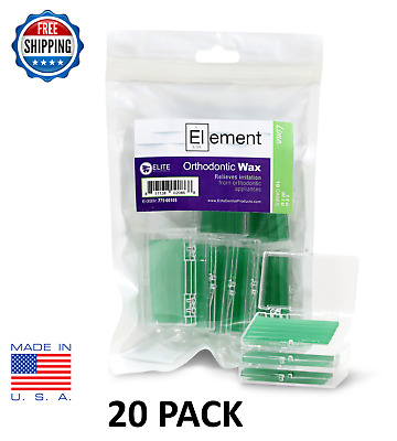 20 Pack Orthodontic WAX For BRACES Irritation GREEN LIME SCENTED Dental Relief