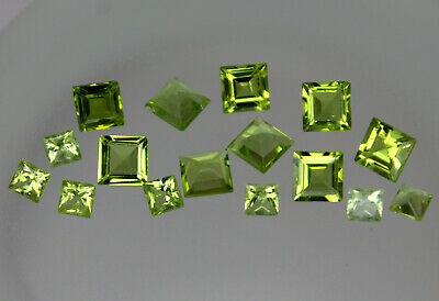 1x Natural Peridot Gemstone Loose Square Best Quality Pakistan Green Many Sizes