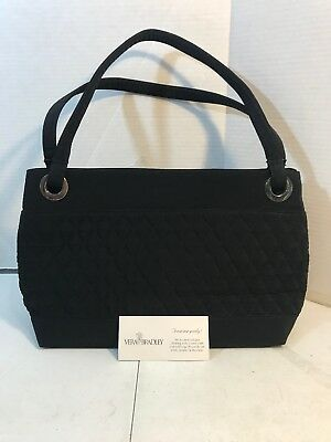 VERA BRADLEY TOTE Handbag in Classic Black Quilted Microfiber Fabric ... d94bf216651a3