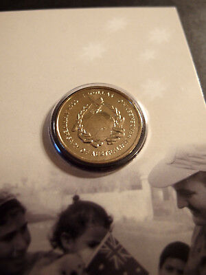 2007 Australian 60th Anniversary of Peacekeeping carded $1 coin