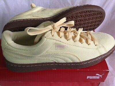 Puma Men/'s Basket Ripstop Ice Cream Mellow Yellow Sneakers NWT MSRP $40