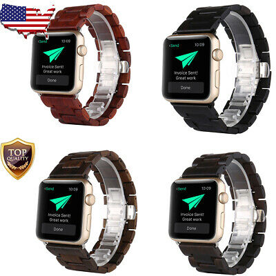 Wooden Wood Watch Band Strap Bracelet For Apple Watch Series 2 3 4 38/42/40/44mm