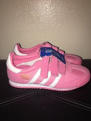 adidas Dragon OG CF Preschool in Pink//White by