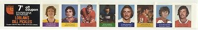 (12)1974-75 Loblaws NHL ACTION Players Panels: You Pick, Choose From (12) +BONUS