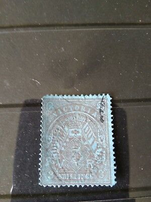 Victoria very rare 1884-00 Stamp Duty 3/-!