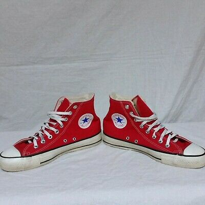 43f04695c12d VTG Converse Chuck Taylor All Star Hi Top Sneakers Made In USA Shoes Canvas  8.5