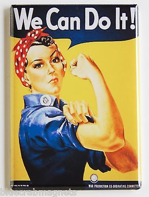 We Can Do It FRIDGE MAGNET (2.5 x 3.5 inches) rosie the riveter poster