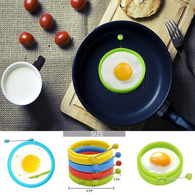 1pcs Silicone Omelette Fry Egg Ring Pancake Poach Mold Kitchen Cooking Tool K9Pl