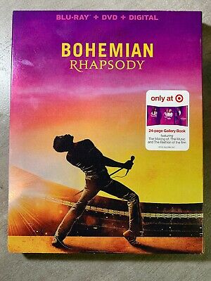 Bohemian Rhapsody(Blu-Ray+Dvd+Digital)Target Exclusive 24-Page Gallery Book New