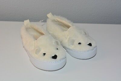 Gap Baby Girl Sneakers Faux Fur Size 5 Slip on Ivory Casual