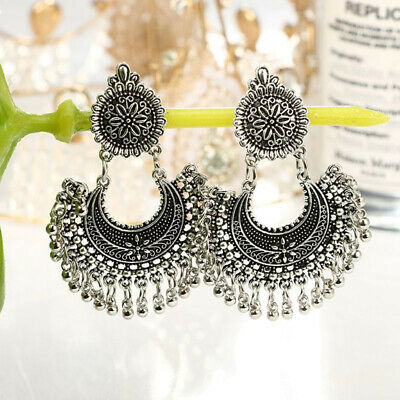 Metal Tassel Jhumka Indian Ethnic Bollywood Dangle EarringsPrevalent Jewelry
