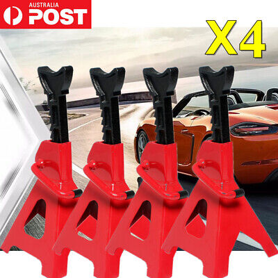 4pcs Car Jack Stand 3T 3000kg Ratchet Adjustable Lift Hoist Heavy Duty Steel AU