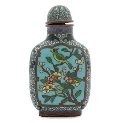 Guaranteed Chinese Republic Period Antique Cloisonné Snuff Bottle