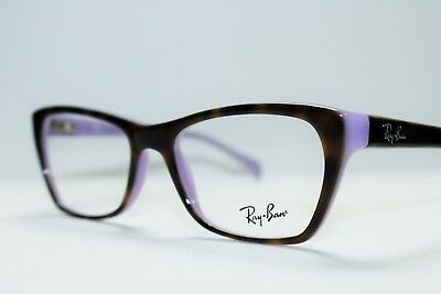 0bf9bc30a21 New Ray Ban Rb 5298 5240 Havana On Violet Authentic Cats Eye Rx Eyeglasses  51Mm