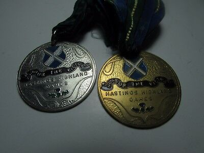 2 Hastings Highland Games Honour The Victor Medal Gold & Silver
