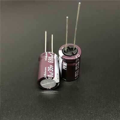 10pcs 680uF 10V680UF 8x15mm Nichicon PW Low Impedance Long Life Capacitor