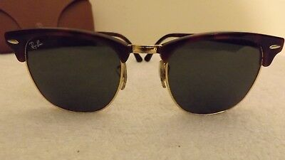 75b41d1ed5 Ray-Ban RB3016 W0366 Clubmaster Sunglasses Havana / Crystal Green Lens