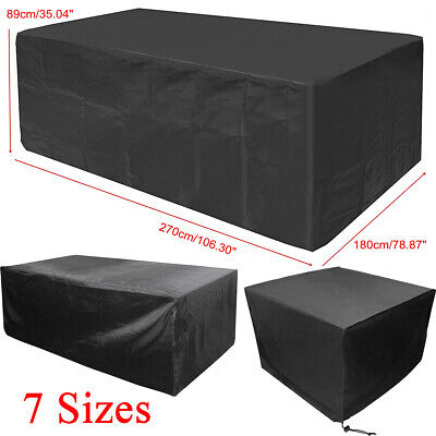 Waterproof Outdoor Garden Patio Rattan Furniture Covers Table Chair Protector UK