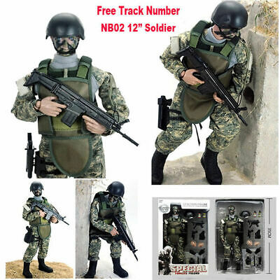 """New 12"""" 1/6 NB02 Military Army Combat Jungle ACU Soldier Action Figure Model Toy"""