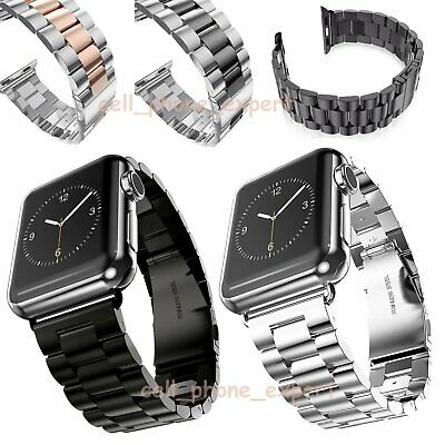 Stainless Steel Strap For Apple Watch Series 3 4 iWatch 38/42mm Watch Band Clasp
