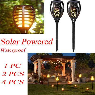 96LED Solar Powered Waterproof Flame Torch Outdoor Garden Lawn Landscape Lights