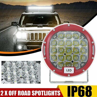 """7"""" CREE SPOT LED Driving Lights Round Off Road 4x4 Spotlights 12V Red 99999W"""