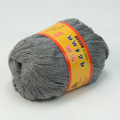 Knitting Wool Crochet Milk Soft Baby Cashmere Hand Yarn 50g Gray