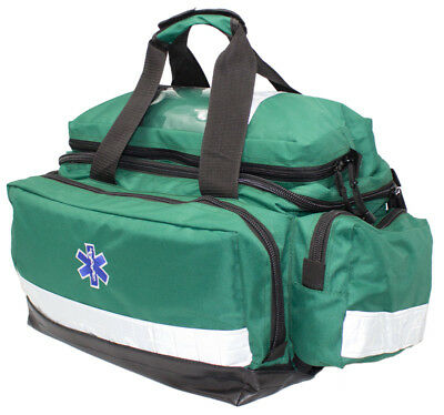 Kitted Emergency First Aid Paramedic Trauma EMT Bag Large Green *FREE PRINTING*